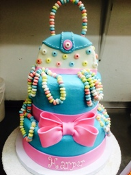 Party Cake with Candy and Purse
