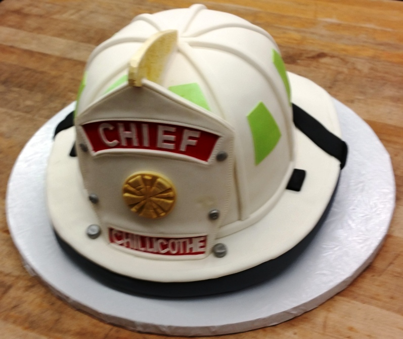Helmet Shaped Cake