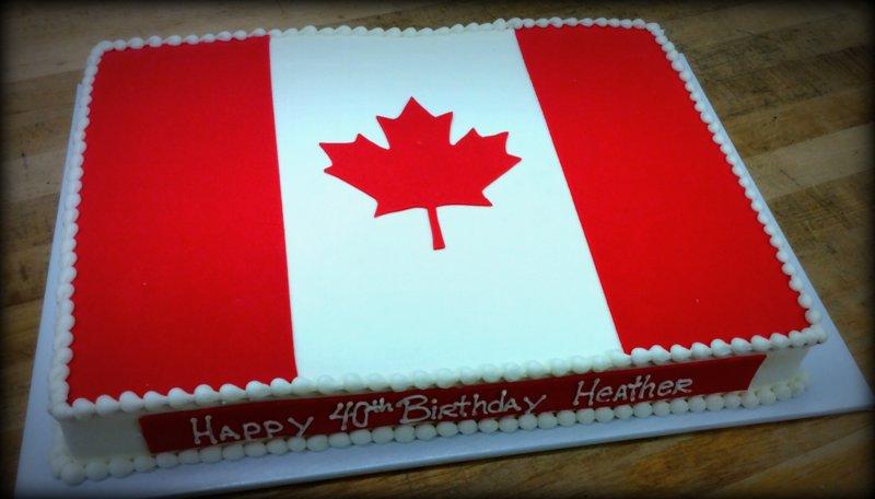 Canadian Flag Sheet Cake
