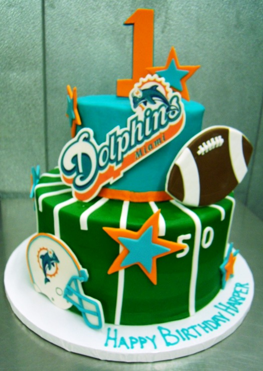 Miami Dolphins Party Cake