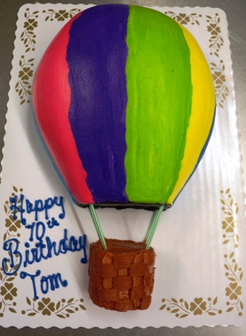 Hot Air Balloon Shaped Cake