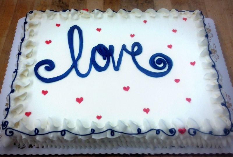 Love Sheet Cake