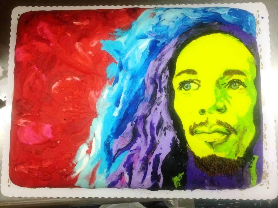 Bob Marley Sheet Cake