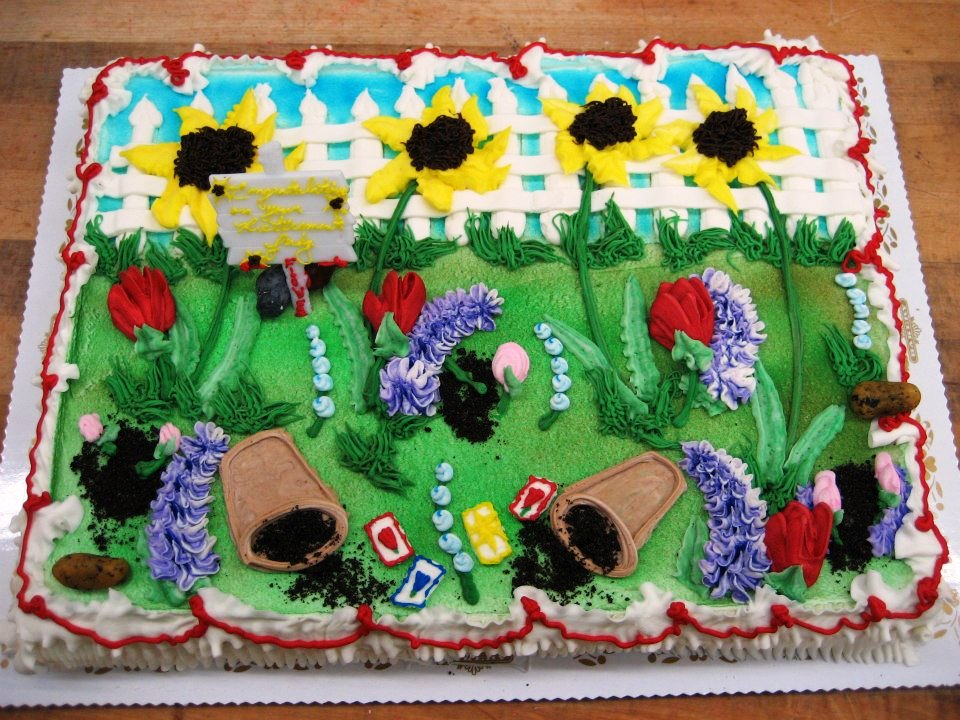 Flower Garden Sheet Cake