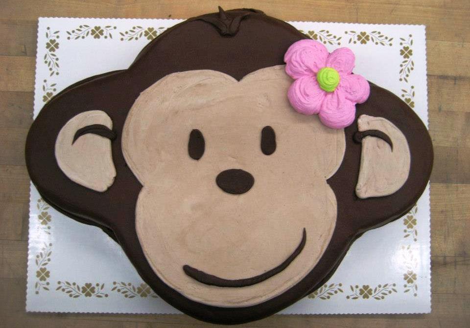 Monkey Face Shaped Cake