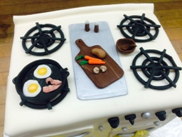 Oven Shaped Cake with Fondant