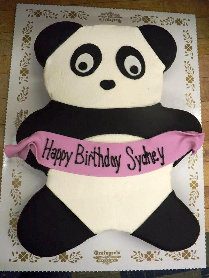 Panda Shaped Birthday Cake