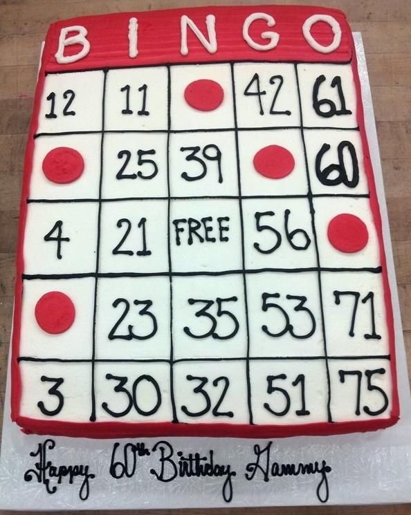 Bingo Sheet Cake