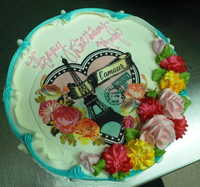 Round Cake with Romantic Paris Photoscan