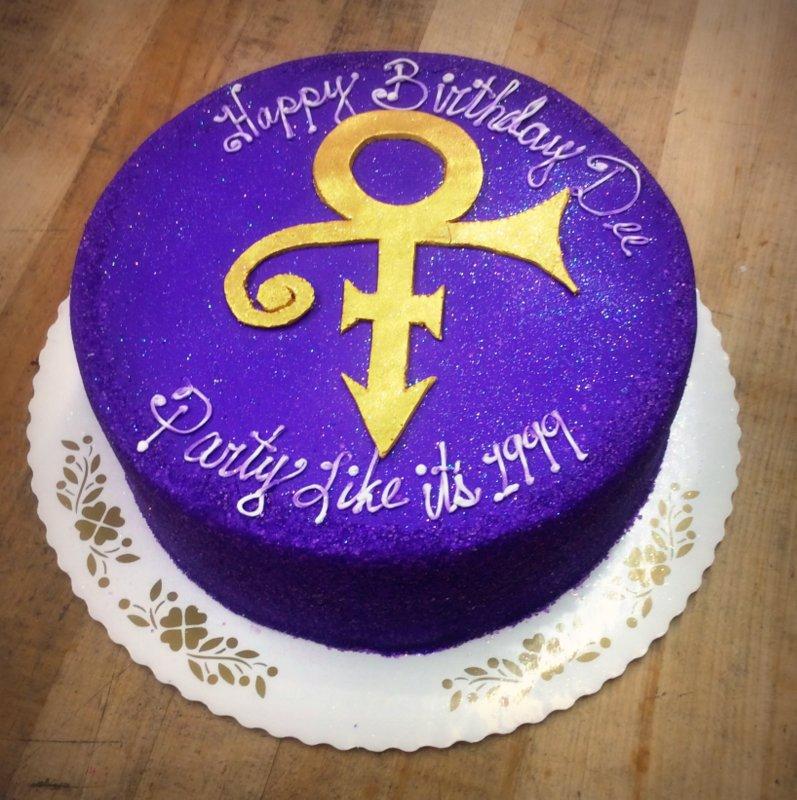 Round Purple Prince Cake