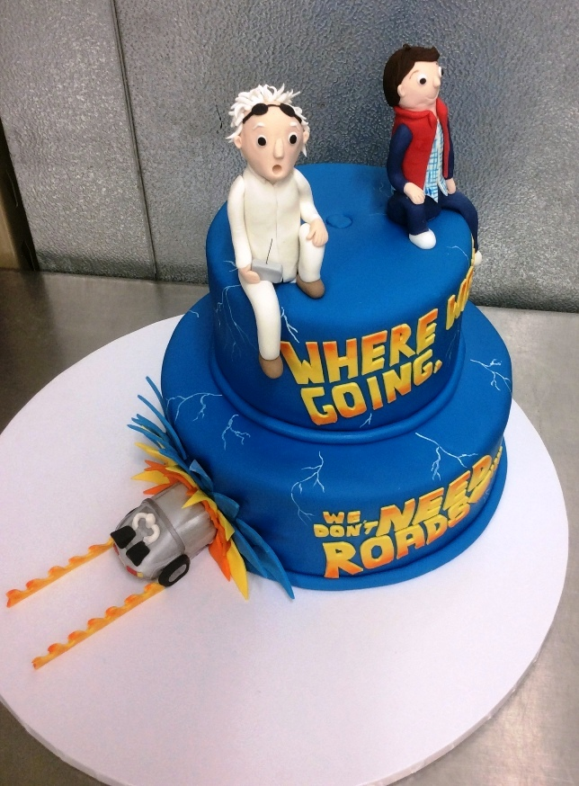 Back to the Future Party Cake