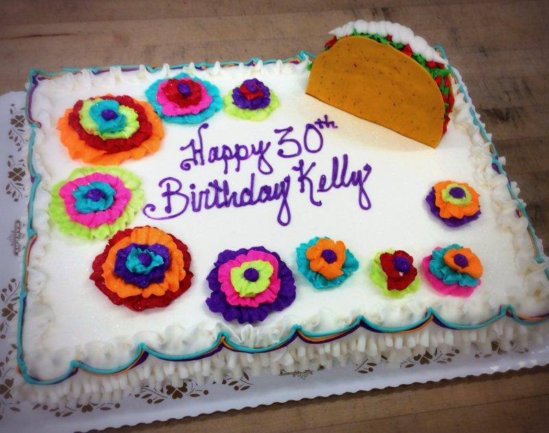 Fiesta Themed 30th Birthday Party Cake