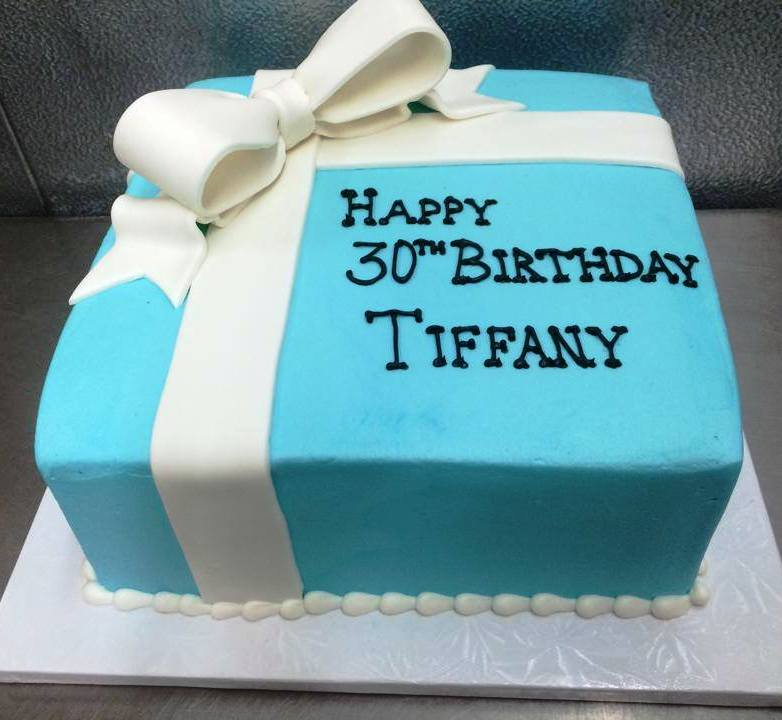 Tiffany Box Square Cake