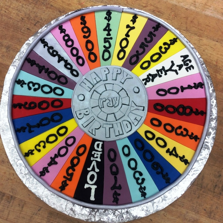 Round Wheel of Fortune Cake