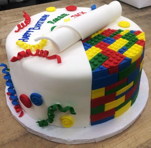 Round Lego Cake