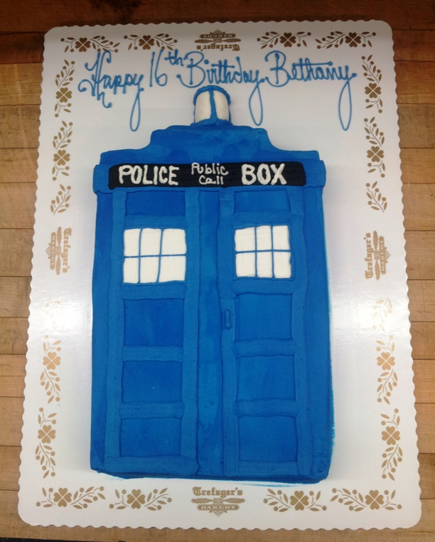 Doctor Who Tardis Sheet Cake