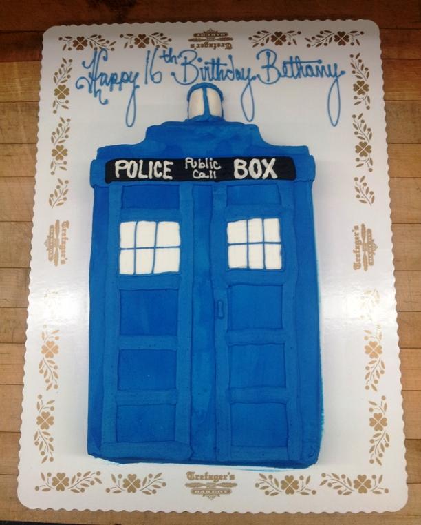 Doctor Who Tardis Sheet Cake