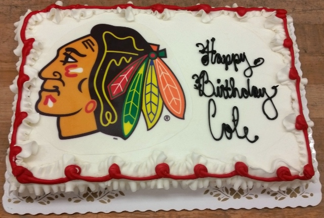 Chicago Blackhawks Photoscan Sheet Cake