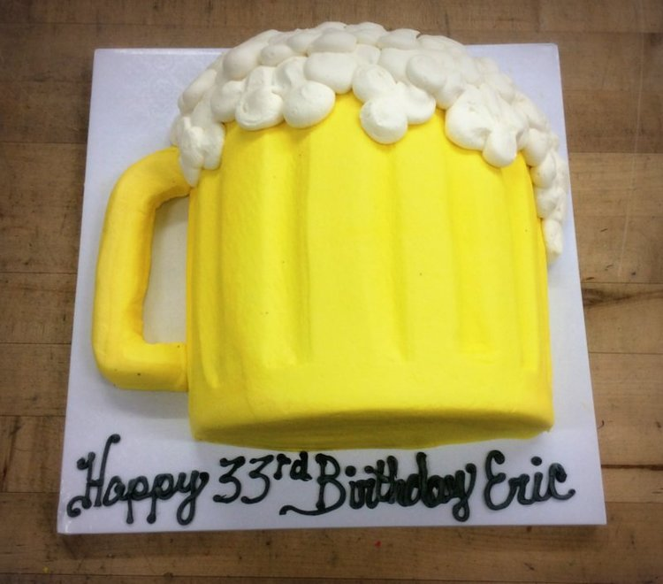 Beer Mug Shaped Cake