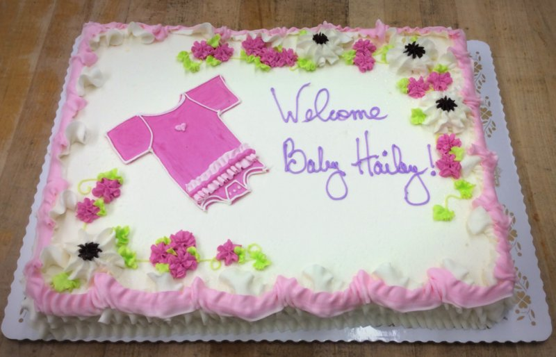 Baby Shower Sheet Cake With Onesie