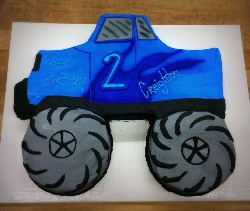 Monster Truck Shaped Cake
