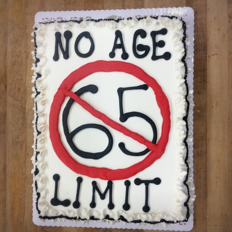 No Age Limit Sheet Cake
