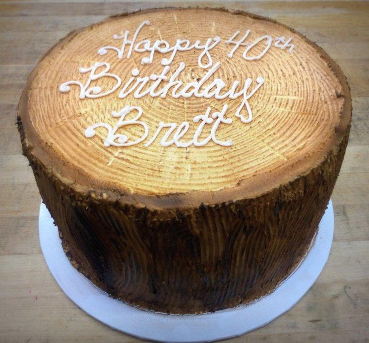 Tree Stump Cake — Trefzger\'s Bakery