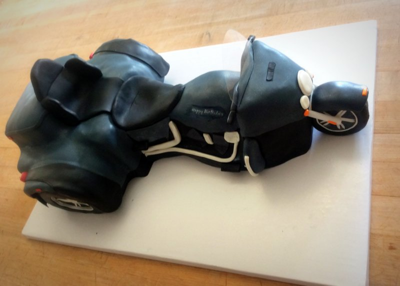 Custom Motorcycle Shaped Cake