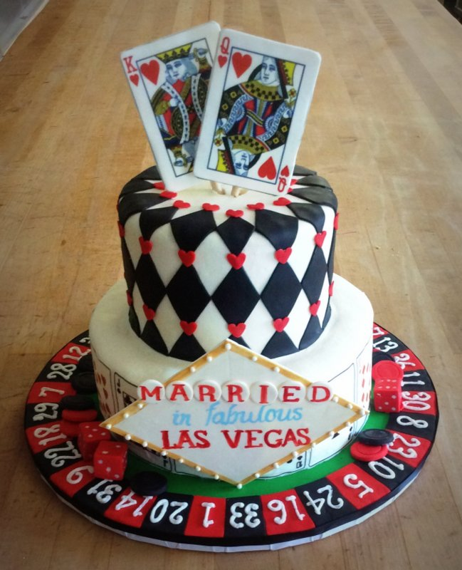 Las Vegas Themed Anniversary Party Cake