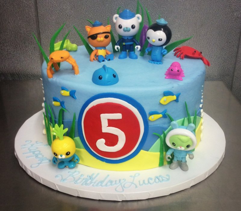 Round Cake with Octonauts