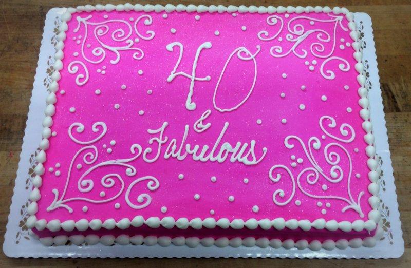 40 & Fabulous Sheet Cake