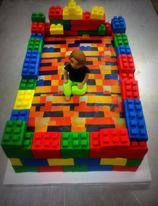 Custom Lego Bed Cake