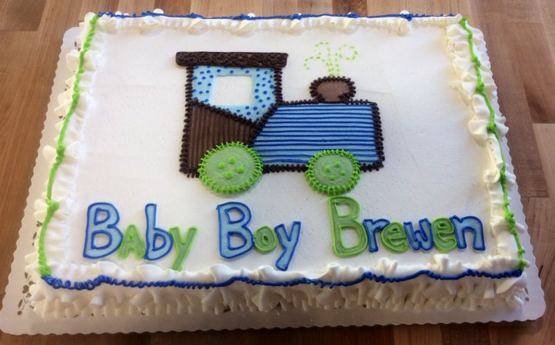 Baby Boy Sheet Cake with Train