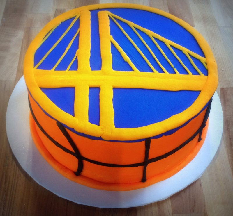 Golden State Warriors Basketball Cake