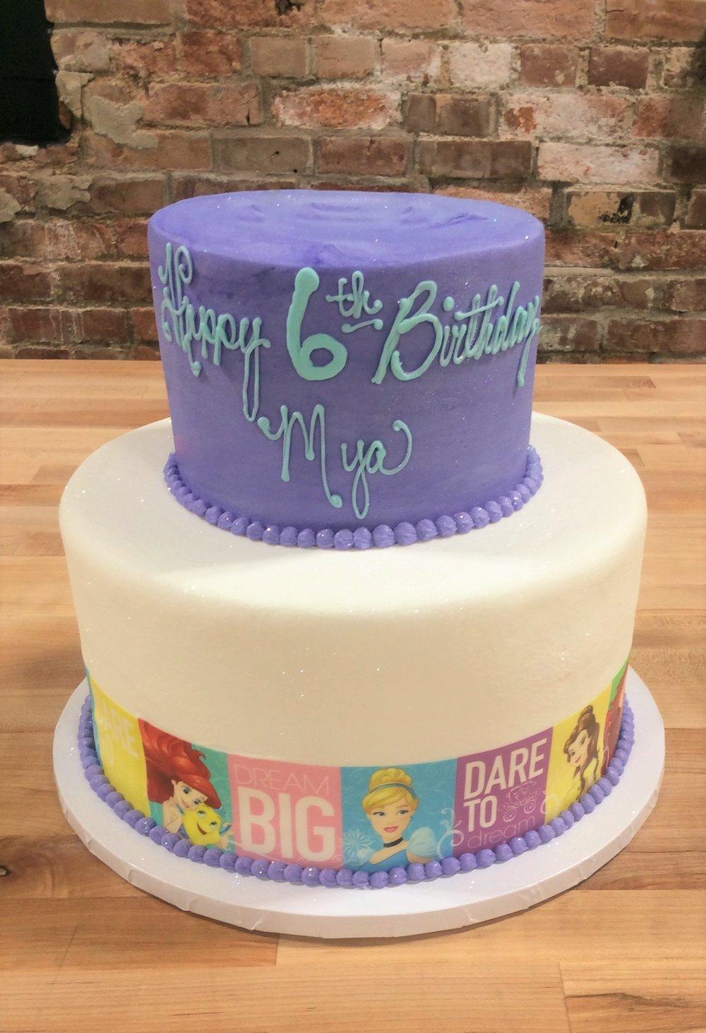 Party Cake with Disney Princess Photoscan
