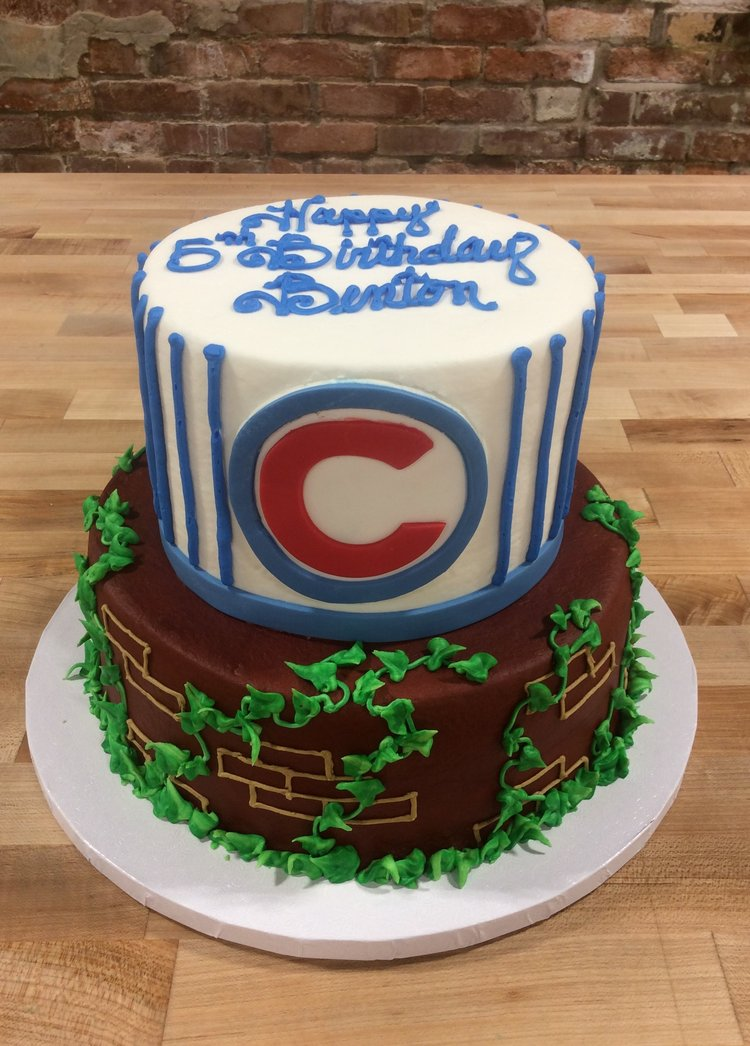 Chicago Cubs Party Cake Trefzgers Bakery