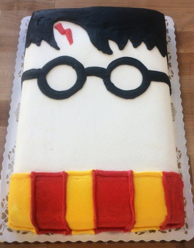 Harry Potter Face Sheet Cake