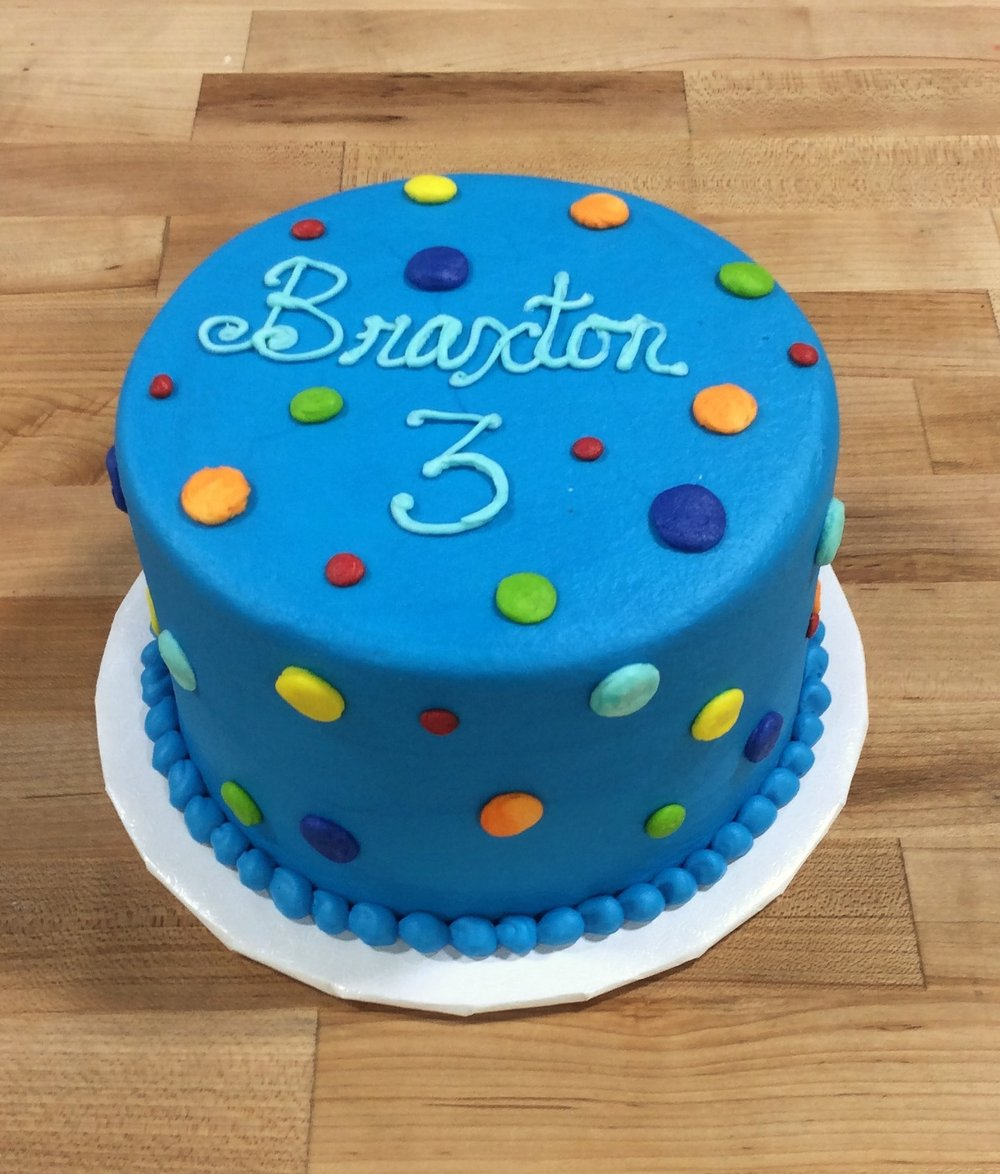 Smash Cake with Polka Dots 2