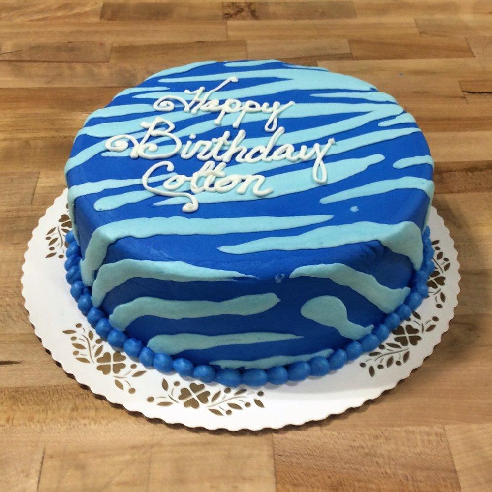 Blue Zebra Cake