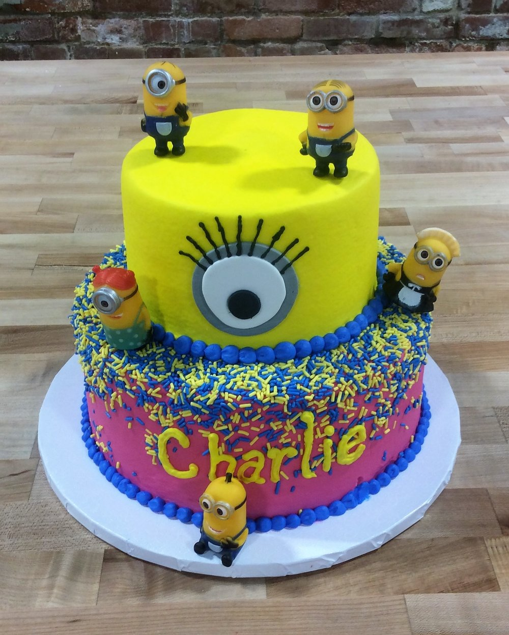 Party Cake with Minion Figures