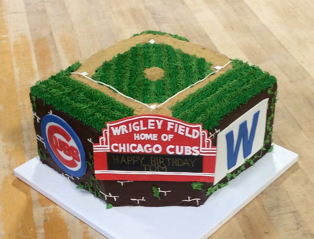 Wrigley Field Shaped Cake