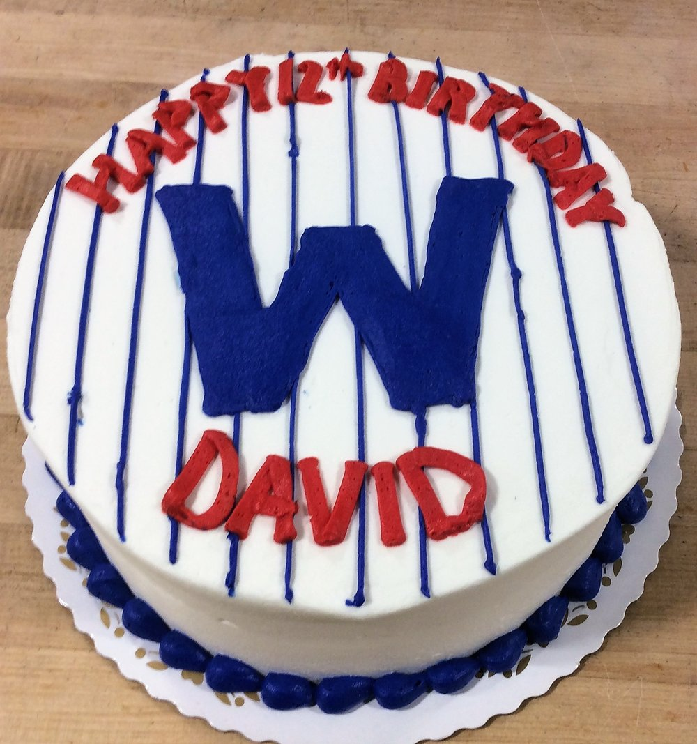 Cubs WIN Round Cake