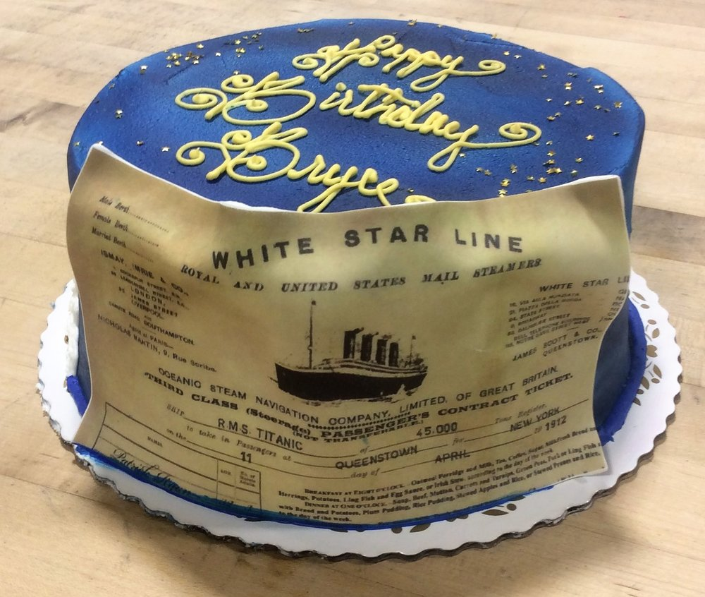 Titanic Themed Birthday Cake