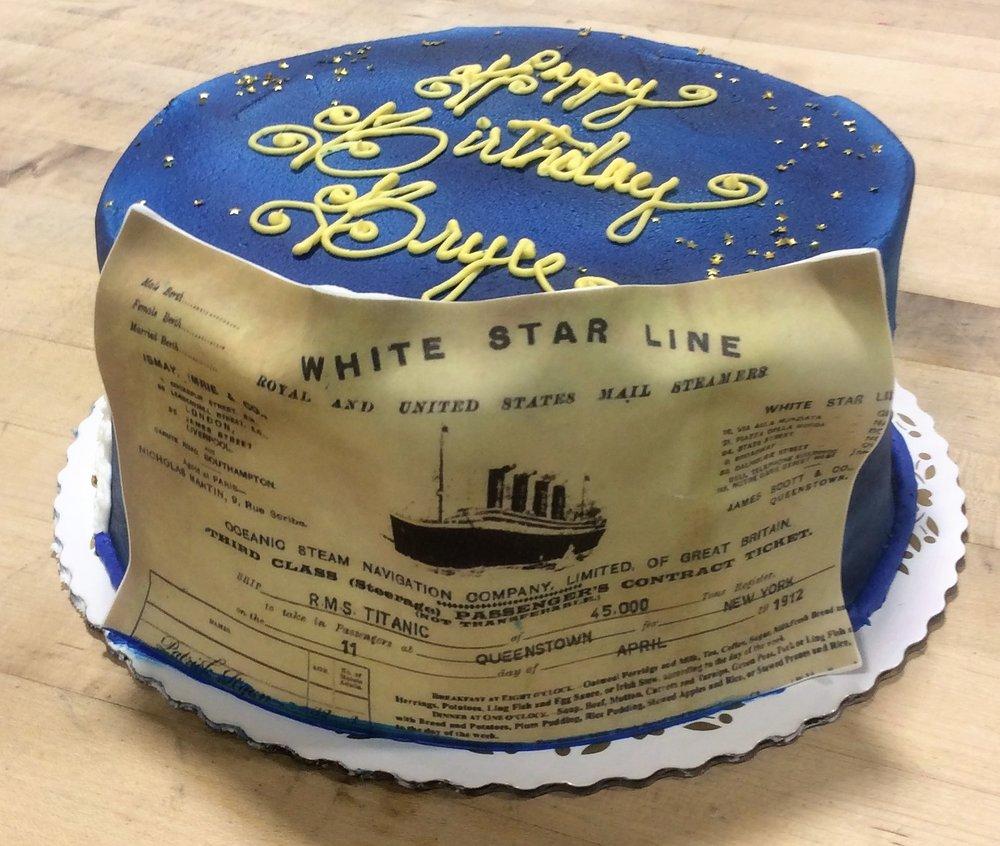 Titanic Themed Birthday Cake