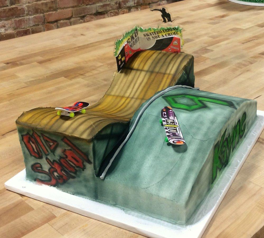 Skate Park Shaped Cake