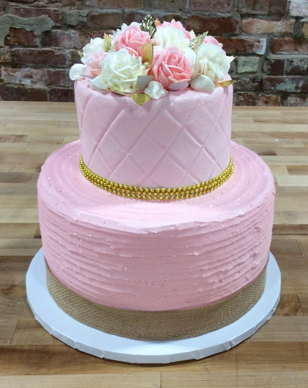 Pretty Pink Party Cake