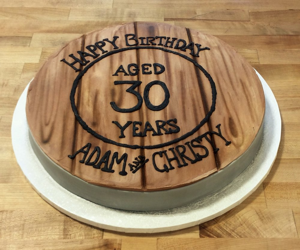 Whiskey Barrel Birthday Cake