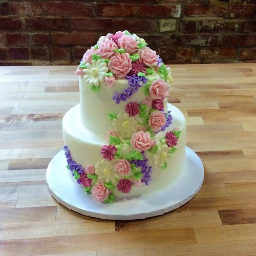 Party Cake With Spring Flowers Trefzgers Bakery