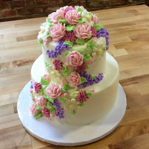Party Cake With Spring Flowers Trefzger S Bakery