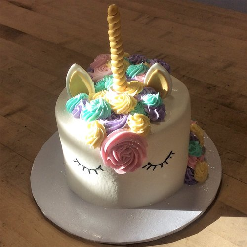 6 Inch 2 Layer Unicorn Smash Cake